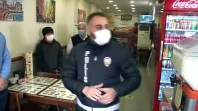zabita -  Şişli'de restoran ve kafelere korona virüs denetimi