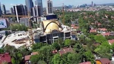 İSTANBUL - DRONE - Barbaros Hayrettin Paşa Camisi'nin kaba inşaatının yüzde 75 tamamlandı (2)