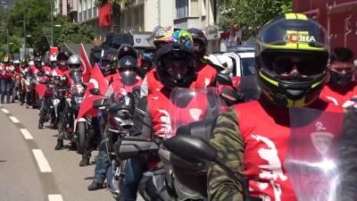 Bursa'da 19 Mayıs törenlerine motosiklet korteji damga vurdu