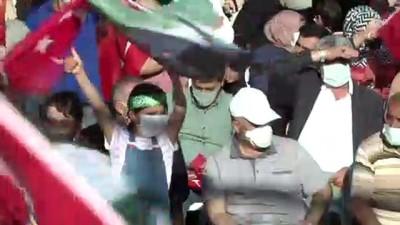 İSTANBUL - İsrail'in, Filistin'e yönelik saldırıları protesto edildi