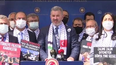 hain saldiri - TBMM - AK Parti milletvekillerinden Meclis'te Filistin'e destek açıklaması