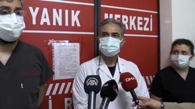 ambulans helikopter - ESKİŞEHİR - Afyonkarahisar'da üzerine sıcak su dökülen bebeğin Eskişehir'de tedavisi sürüyor