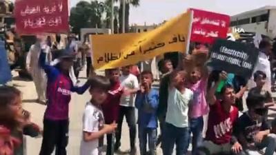 kalaba -  Suriye'nin kuzeyinde rejim ve terör örgütüne protesto