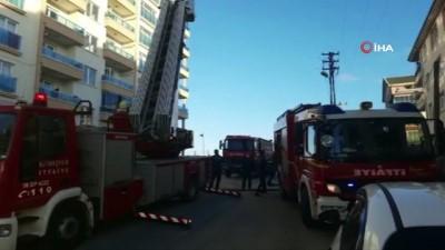 elektrik kontagi -  Başkentte çıkan yangında 8 kişi dumandan etkilendi