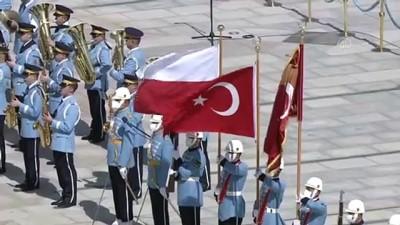 makam araci - ANKARA - Cumhurbaşkanı Erdoğan, Polonya Cumhurbaşkanı Duda'yı resmi törenle karşıladı