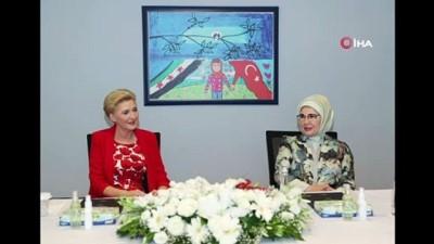 egitim sistemi -  Emine Erdoğan ve Polonya Cumhurbaşkanı Andrzej Sebastian Duda'nın eşi Agata Kornhauser Duda ile PIKTES Ofisi'ni ziyaret etti