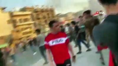 """- Bağdat'ta """"Beni kim öldürdü"""" protestosu: 1 ölü, 45 yaralı"""
