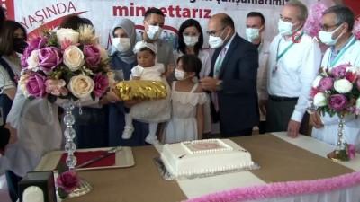 dogum gunu -  Şehir hastanesinin ilk bebeği Defne Sakura 1 yaşında