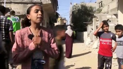 kiz kardes - GAZZE - İsrail'in Gazze'ye saldırılarından mucizevi şekilde kurtulan çocuklar yaşadıkları korkunç anları unutamıyor
