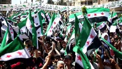 yol haritasi - İDLİB - Suriye'de Esed rejiminin sözde devlet başkanlığı seçimi protesto edildi