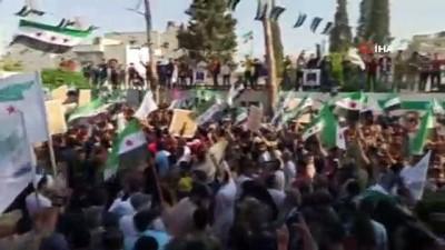 cumhurbaskanligi -  - Suriye'de Esad ve seçimler protesto edildi