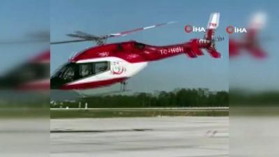 ambulans helikopter - 43 gündür korona tedavisi gören Eriş, helikopterle İzmir'e sevk edildi
