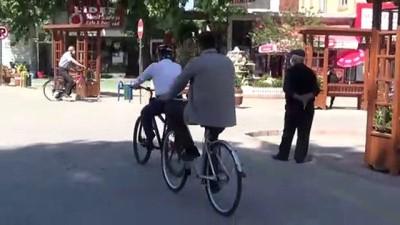 makam araci -  Belediye başkanının bisikleti makam aracı oldu