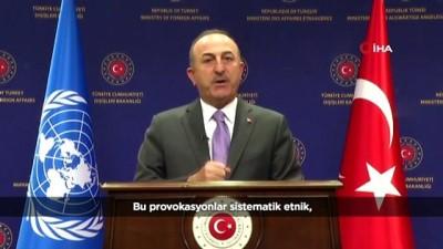 """- Çavuşoğlu: """"Filistinlilerin içinde bulunduğu bu kötü durum, Filistinliler'in kendi devletleri olmadıkça sona eremez"""""""