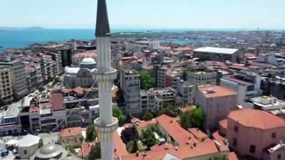 ayetler - İSTANBUL -  DRONE - Taksim'e yapılan cami yarın açılıyor