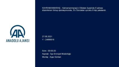 adliye binasi - KAHRAMANMARAŞ - Fuhuş operasyonunda 3'ü yabancı uyruklu 9 kişi yakalandı