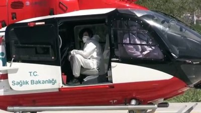ambulans helikopter - SİVAS - Ambulans helikopter Kovid-19 hastası için havalandı
