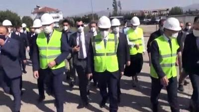 AYDIN - Enerji ve Tabii Kaynaklar Bakanı Dönmez, jeotermal santrali ziyareti etti (1)