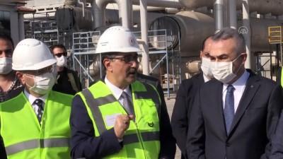 AYDIN - Enerji ve Tabii Kaynaklar Bakanı Dönmez, jeotermal santrali ziyareti etti (2)