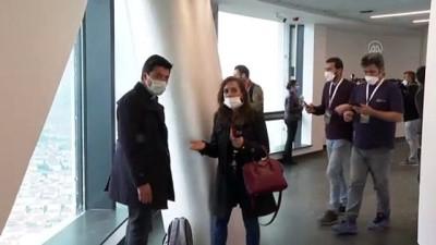 İSTANBUL - Çamlıca Kulesi'nin ilk ziyaretçileri gazeteciler oldu