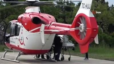 ambulans helikopter -  Ambulans helikopter 4 günlük bebek için havalandı