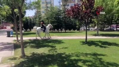 atli polis -  Uşak'ta denetimlere atlı polisler katıldı