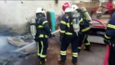 imalathane -  Kahramanmaraş'ta hurdalık deposunda yangın