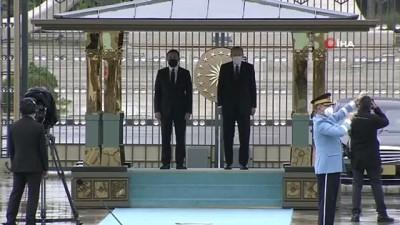resmi toren -  - Cumhurbaşkanı Erdoğan, Gürcistan Başbakanı Garibashvili 'yi resmi törenle karşıladı