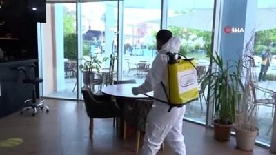 kiraathane -  Esenyurt'ta toplu kullanım alanları dezenfekte edildi