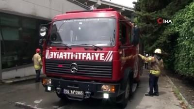 Ortaköy'de ofiste yangın paniği