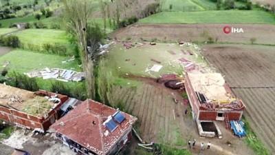 yasli kadin -  Tarım arazilerini dolu vurdu
