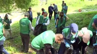 hassasiyet -  - Başkan Aktaş Dünya Çevre Gününde çöp topladı