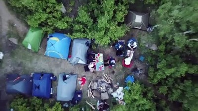 BİTLİS - Nemrut Krater Gölü normalleşme süreciyle yeniden kampçıların uğrak yeri oldu