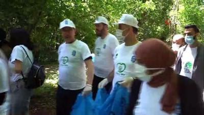 hassasiyet -  Eyüpsultan'daki piknik alanındaki çöpler  temizlendi