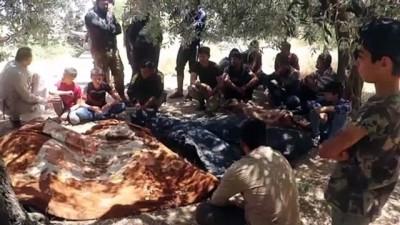 İDLİB - Esed rejiminin İdlib kırsalındaki saldırısında 6 sivil öldü (2)