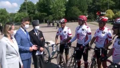 bisiklet turu -  KKTC Gazisi için Ordu'ya pedal çevirdiler