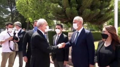 siyasi partiler - LEFKOŞA - KKTC Meclis Başkanı Sennaroğlu ile Başbakan Ersan Saner, CHP Genel Başkanı Kılıçdaroğlu'nu kabul etti
