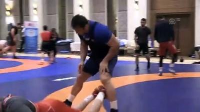 olimpiyat - BOLU - Milli güreşçiler, olimpiyat madalyası hedefi için form tutuyor