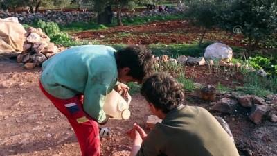 yasam mucadelesi - İDLİB - İdlibli küçük İbrahim, ağabeyiyle taş kırarak ailesini geçindirmeye çalışıyor (2)