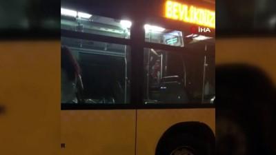 ozel harekat polisleri -  Metrobüste kendisine zarar veren şahıs ortalığı birbirine kattı