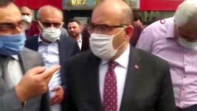 Vali Ustaoğlu, Yomra Belediye Başkanı Bıyık'a düzenlenen silahlı saldırı sonrası olay yerine geldi