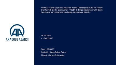 kok hucre - ADANA - Adana Demirspor ile TCDD kan bağışı kampanyası düzenledi