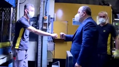 geri donusum - ANKARA - Bakan Varank, yüksek basınçlı alüminyum döküm otomotiv parçası üreten firmayı ziyaret etti