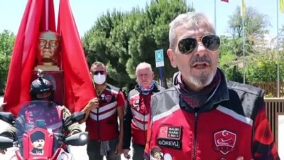 ÇANKIRI - İnebolu'dan Ankara'ya 'İstiklal Sürüşü' gerçekleştiren motosiklet sürücüleri Çankırı'ya ulaştı
