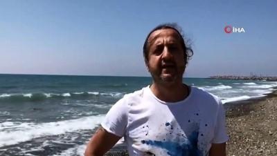 İskenderun kıyılarında beyaz tabaka endişelendirdi