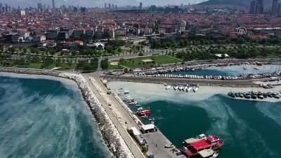 İSTANBUL - Drone -  Müsilaj temizleme çalışmaları sürüyor