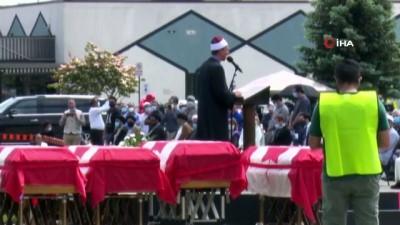 teror saldirisi -  - Kanada'da katledilen Müslüman aile için cenaze töreni düzenlendi Videosu
