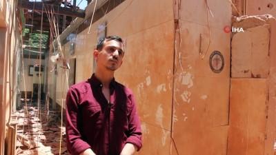 - PKK'nın Afrin'de saldırdığı hastane harabeye döndü