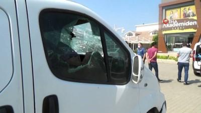 Yerel televizyonun yayın aracına faili meçhul saldırı