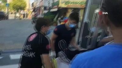 yaya gecidi -  Zeytinburnu'nda yolun karşısına geçmeye çalışan engelli vatandaşa taksi çarptı
